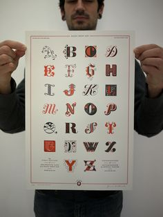 My favorite typography blog released a stunning letterpress print
