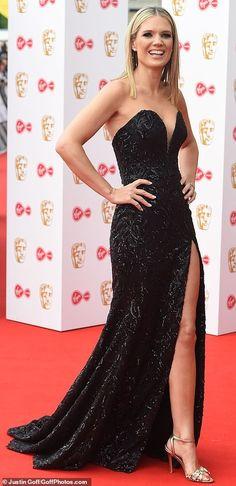 BAFTAs TV Charlotte Hawkins and GMB co-host Kate Garraway stun on the red carpet Lee Mack, Steve Pemberton, Charlotte Hawkins, Girls Toms, Royal British Legion, Kate Garraway, Festival Hall, Strapless Dress Formal, Formal Dresses