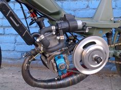 Mbk 51 MG Street Fighter – Tomahawk Mopeds Custom Moped, Custom Motorcycles, Cars And Motorcycles, Bagger Motorcycle, Motorcycle Style, Bicycle Engine, Honda Ruckus, Retro Arcade, 50cc