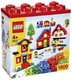 LEGO XXL 1600 Piece Multi Colored Building Block Set Style 5512