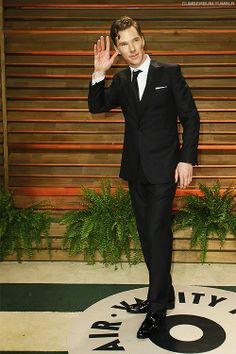 Benedict Cumberbatch at the Vanity Fair Oscars Party