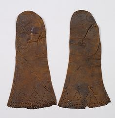 Mittens  Date:     early 17th century Culture:     British Medium:     Leather Credit Line:     Brooklyn Museum Costume Collection at The Me...