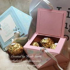 Ferrero Friday Elegant Envelope Punchboard Box with top opening