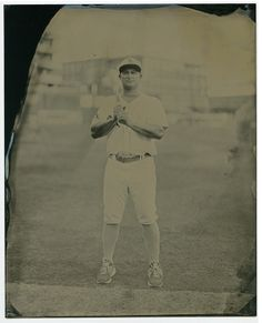 """A look back at the photography of the Bull City Summer series, now on view at Raleigh's North Carolina Museum of Art. Photography: Leah Sobsey/Tim Telkamp, """"Vince Belnome,"""" tintype. #baseball"""