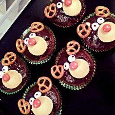 Muffins. Reindeer. Christmas time.