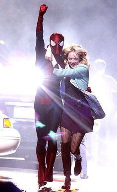 Andrew Garfield and Emma Stone in The Amazing Spiderman 2.