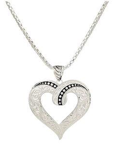 Montana Silversmiths Jewelry Womens Necklace Heart Silver NC2208 - http://www.jewelryfashionlife.com/montana-silversmiths-jewelry-womens-necklace-heart-silver-nc2208/