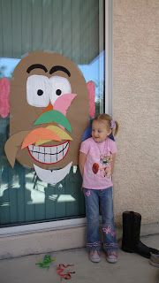 Toy Story Birthday Party Ideas Have each child put on a different mr potato and mrs potato parts blindfolded