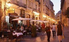 The lively Calle de Caballeros in Valencia