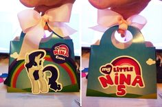 Cajitas de dulces de My little Pony para cumpleaños. Diseño personalizado realizado para las niñas. Cliente: AEIdeign by Carmen Ortega. https://www.instagram.com/aeidesign/
