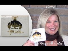 Stamp with Tami: VIDEO Peace Sleigh Ride Ornament Wow card - Delicate Ornaments - Sleigh Ride - Christmas Greetings Stamped Christmas Cards, Stampin Up Christmas, Xmas Cards, Christmas Greetings, Holiday Cards, Christmas Holiday, Christmas Paper, Spellbinders Cards, Stampin Up Cards