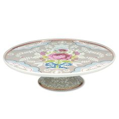 Antique Rose Khaki Cake Plate @LaylaGrayce