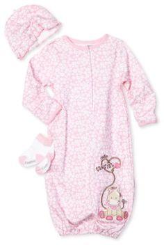 Vitamins Baby-Girls Newborn Cowgirl 3 Piece Gown Set