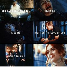 You can break my soul Hurt me Kill me But for the love of god Don't touch her. Shadowhunters Frases, Shadowhunters Series, Clary Und Jace, Clary Fray, Mortal Instruments Books, Shadowhunters The Mortal Instruments, Cassandra Clare Books, Jace Wayland, Clace