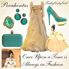 Disney Style: Pocahontas by trulygirlygirl Moda Disney, Disney Mode, Disney Bound, Disney Princess Outfits, Disney Themed Outfits, Movie Outfits, Disney Princesses, Disney Prom, Disney Dress Up