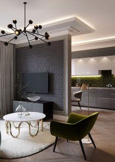 limit yourself to just one dark wall, for example, an accent faux brick one like here