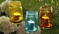 Reaproveitando vidros para velas
