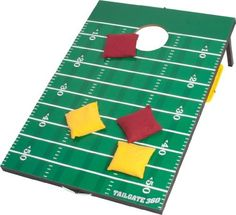 Tailgate 360 Football Bean Bag Toss and Corn Hole Toss Set- Portable with Score Counter and Carrying Handles by Tailgate360. $62.99. From the Manufacturer                Premium Football Tailgate Bean Bag Toss & Corn Hole Set. These bean bag sets are lightweight and durable, and perfect for any tailgate event.  You can fold them up for easy transport, and the legs are designed to accommodate flat and slanted ground.  These tailgate bean bag toss products are made out of ...
