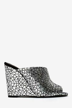Jeffrey Campbell Jovie Leather Wedge - Silver - Shoes   All   Jeffrey Campbell   Cyber Monday Shoes      Sandals   Heels