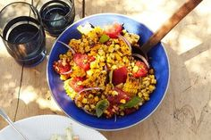 From hot and grilled to cold and pickled, here's how to use corn in a salad.