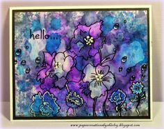 Paper Creations by Shirley: Playing with Alcohol Inks