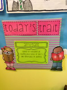 """A Trait A Day: Character Traits - great way to build character trait vocabulary other than """"nice"""" and """"mean."""""""