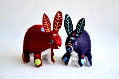fortune rabbit red - soft sculpture animal