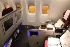 The business class seat on Qatar Airways' Boeing 777-300ER