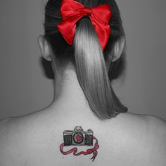 camera tattoo - Google Search black and white with a pop of color
