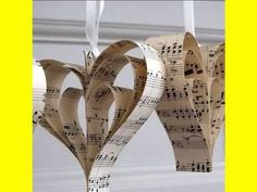 Handmade Sheet Music Heart Decoration Handmade Vintage Music Heart Decoration - funnily enough they look like some I made several years ago :) Vintage Sheet Music, Vintage Sheets, Vintage Paper, Old Sheet Music, Wedding Table Decorations, Heart Decorations, Wedding Themes, Wedding Ideas, Paper Decorations