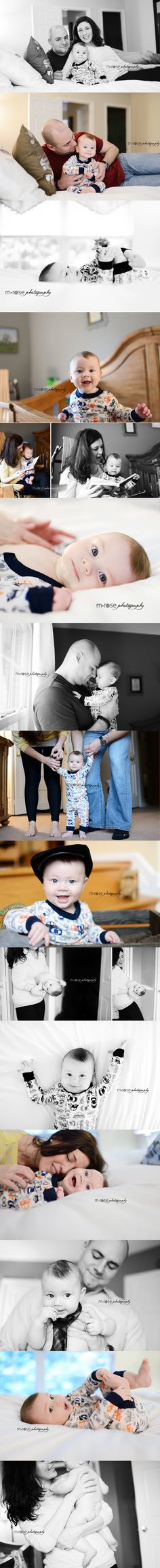 Indoor lifestyle session. Indoor six-month baby photography. 6 month old baby boy | M Rose Photography