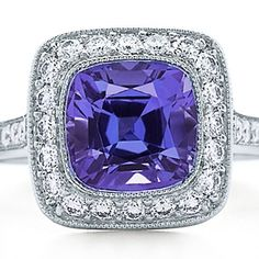 Tanzanite + diamonds.  I love tanzanite but it has to be that perfect periwinkle color..not too purple, not too lavender