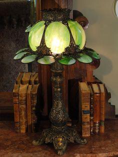 Lovely Victorian Slag Glass Lamp from stidwillsantiques on Ruby Lane