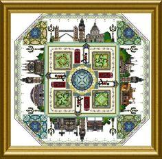 Châtelaine Designs - Gardens of London - CROSS STITCH
