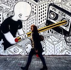Be Kind, Rewind detail by Millo in Barcelona, 3/15 (LP)