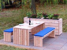 Gartenmöbel Set 1, wetterfestes Holz, Douglasie - www.holzweise.de