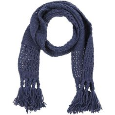 Echo Oblong Scarf ($37) ❤ liked on Polyvore featuring accessories, scarves, dark blue, echo scarves, long shawl, long scarves, fringe scarves and fringe shawl
