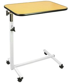 2. Overbed Table by Vive - Swivel Tilt Top Rolling Tray Table