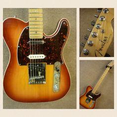 "*SOLD* Second hand Fender ""American Deluxe Nashville Powertone"" Telecaster, 2001, three noiseless pickups, 12db boost, Locking machine heads, Hard case, VGC, £850.00"