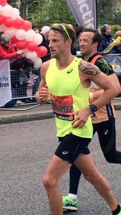 Jensen Button runs London Marathon - 2 hours 52 mins 30 secs - 25 April 2015 Force India, London Marathon, Martini Racing, Red Bull Racing, F1 Drivers, Formula One, Sporty, Buttons, Running