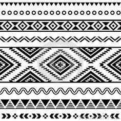 Tribal seamless pattern, aztec black and white background by Agnieszka Bernacka, via Dreamstime