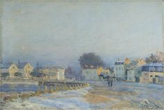 The Watering Place at Marly-Le-Roi - Hoarfrost, Alfred Sisley - 1875