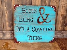 Cowgirl sign