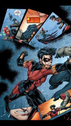 Pt1 Tim Drake Red Robin, Robin Dc, Nightwing Wallpaper, Robin Superhero, Dc Comics, Timothy Drake, Robin The Boy Wonder, Red Hood Jason Todd, Fighting Poses