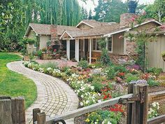 Get Spring Ready: Add Flowers To Your Front Walk