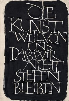 Günter Gnauck,  1931 – 2004. Die Kunst will von uns..., o. J., 32 x 60 cm, BSK 1,430