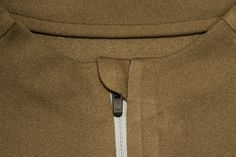 Trim, zipper, jacket, gold, brown, fold, protector