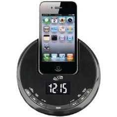 ILIVE ICP101B IPHONE(TM) AM/FM ALARM CLOCK RADIO SPHERE WITH DOCK