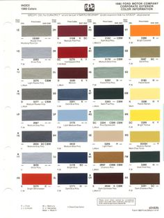 1980 chevrolet truck paint colors