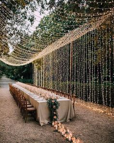 Wedding Hanging Decoration Ideas to Love - EmmaLovesWeddings romantic wedding reception ideas with hanging string lights Always aspired to disco. Wedding On A Budget, Wedding Reception Ideas, Romantic Wedding Receptions, Outdoor Wedding Decorations, Rustic Wedding, Outdoor Decor, Autumn Wedding, Destination Wedding, Outdoor Ideas
